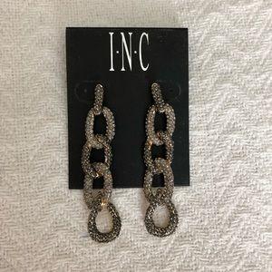 Pewter and Rhinestone earrings